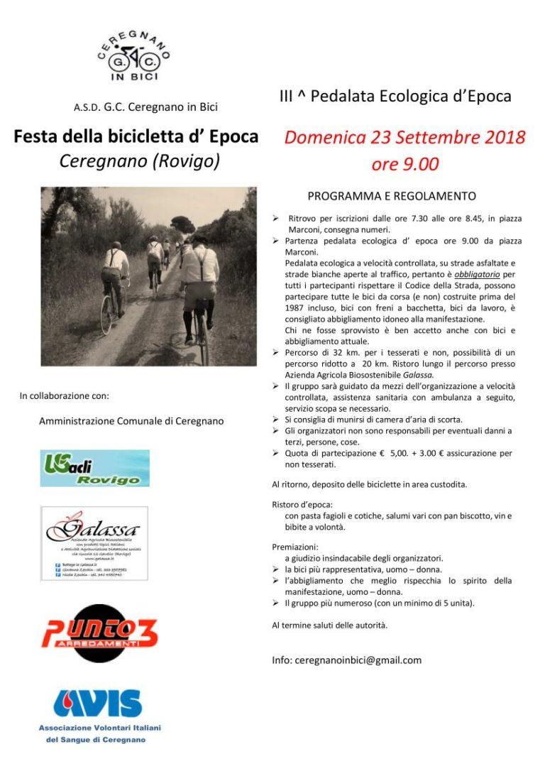 Festa della bicicletta d'epoca 2018